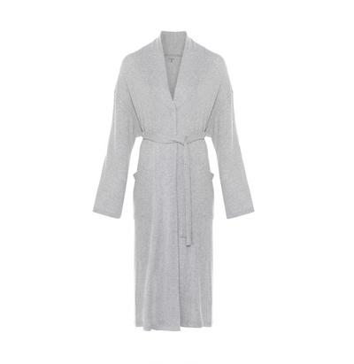 Gray Supersoft Ribbed Robe