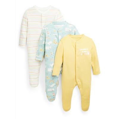 Baby Animal Print Sleepsuits 3 Pack