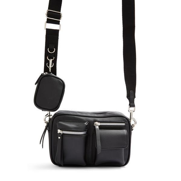 Black Multifunction Crossbody Bag
