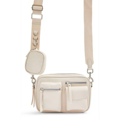 Ivory Multifunction Crossbody Bag