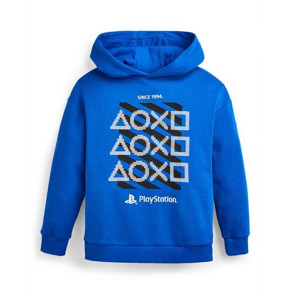 Blauwe hoodie met PlayStation-print voor jongens