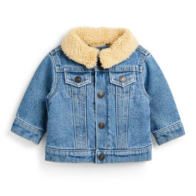 Baby Boy Blue Borg Lined Denim Jacket