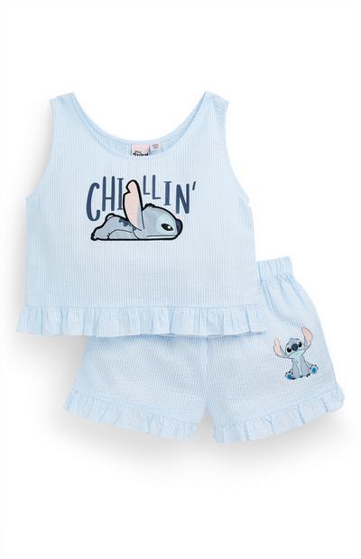 Set met hemd en short Lilo & Stitch voor meisjes