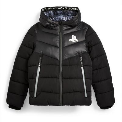 Manteau noir à imprimé PlayStation ado