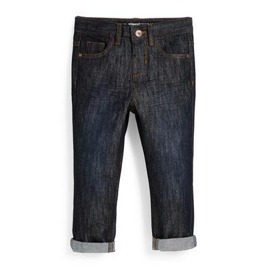 Younger Boy Navy Denim Roll Hem Jeans