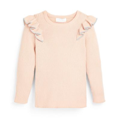 Younger Girl Blush Knit Frill Jumper