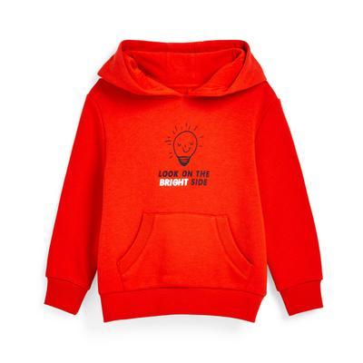 Rode hoodie met tekst, jongens