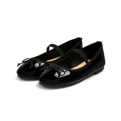Zwarte balletschoenen van lakleer voor meisjes