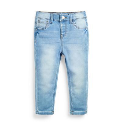 Modre oprijete kavbojke iz modrega džinsa za dojenčke