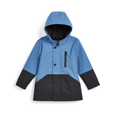 Younger Boy Blue Colour Block Rainwear Jacket