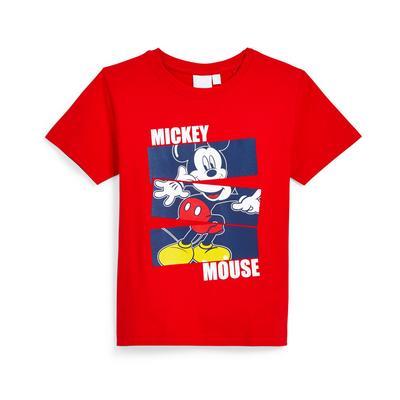 Rood T-shirt Disney Mickey Mouse, jongens