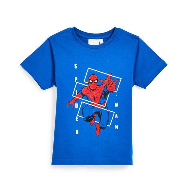 Younger Boy Blue Spiderman T-Shirt