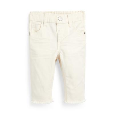 Baby Girl Ivory Twill Trousers