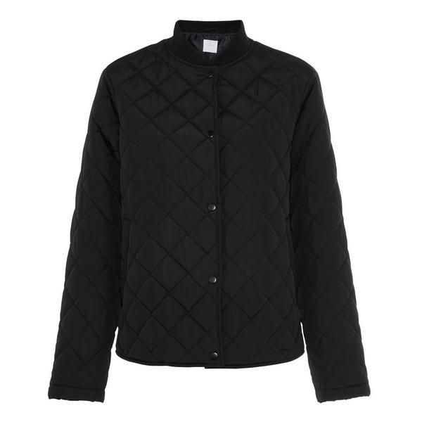 Black Short Quilted Jacket