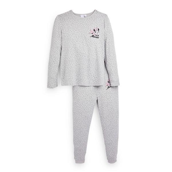 Grey Disney Minnie Mouse Supersoft Pyjamas Set