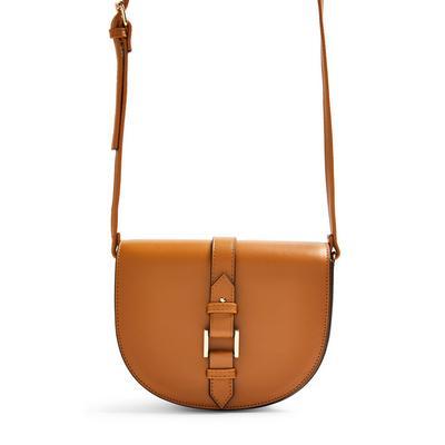Brown Saddle Crossbody Bag