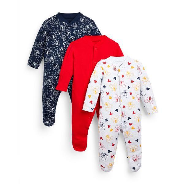 3 pigiamini Topolino Disney da neonato