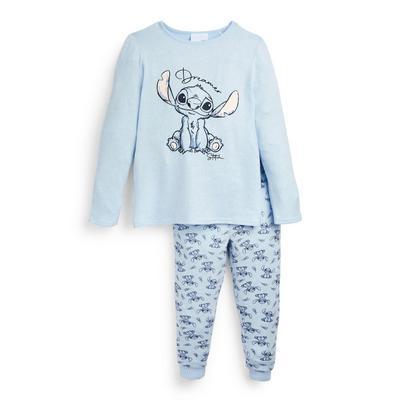 """Blaues, superweiches """"Lilo & Stitch"""" Pyjamaset"""