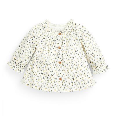 Baby Girl Floral Button Through Blouse