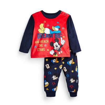 Zachte donkerblauwe babypyjama Disney Mickey Mouse voor jongens