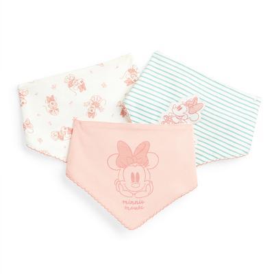 Newborn Baby Girl Disney Minnie Mouse Bibs 3 Pack