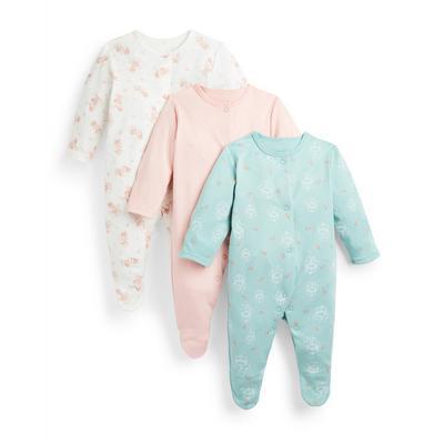 Dekliški spalni pajaci Disney Mini Miška za novorojenčke, 3 kosi