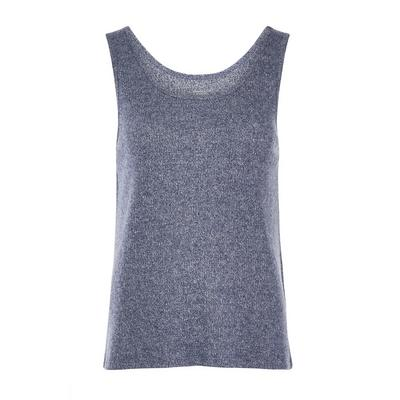 Navy Ribbed Supersoft Tank