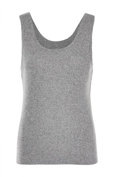 Gray Ribbed Supersoft Tank