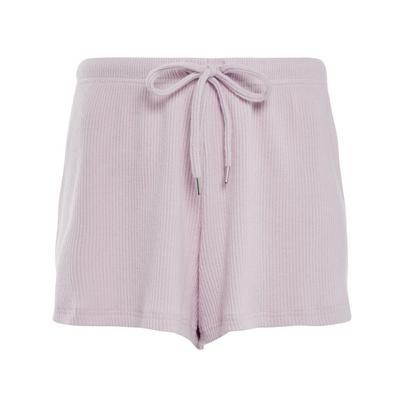 Pink Ribbed Supersoft Shorts