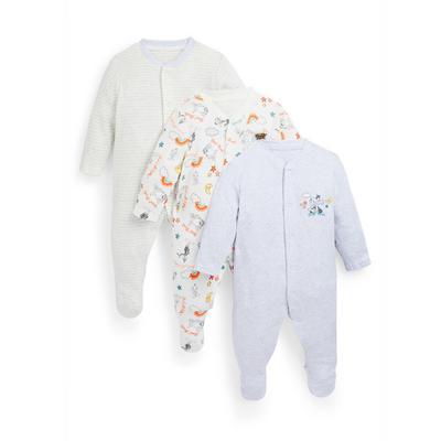 3 pigiamini Looney Tunes da neonato