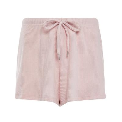 Peach Ribbed Supersoft Shorts