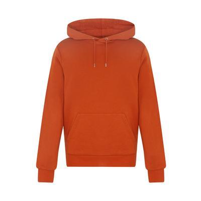 Sweat à capuche orange foncé à col large
