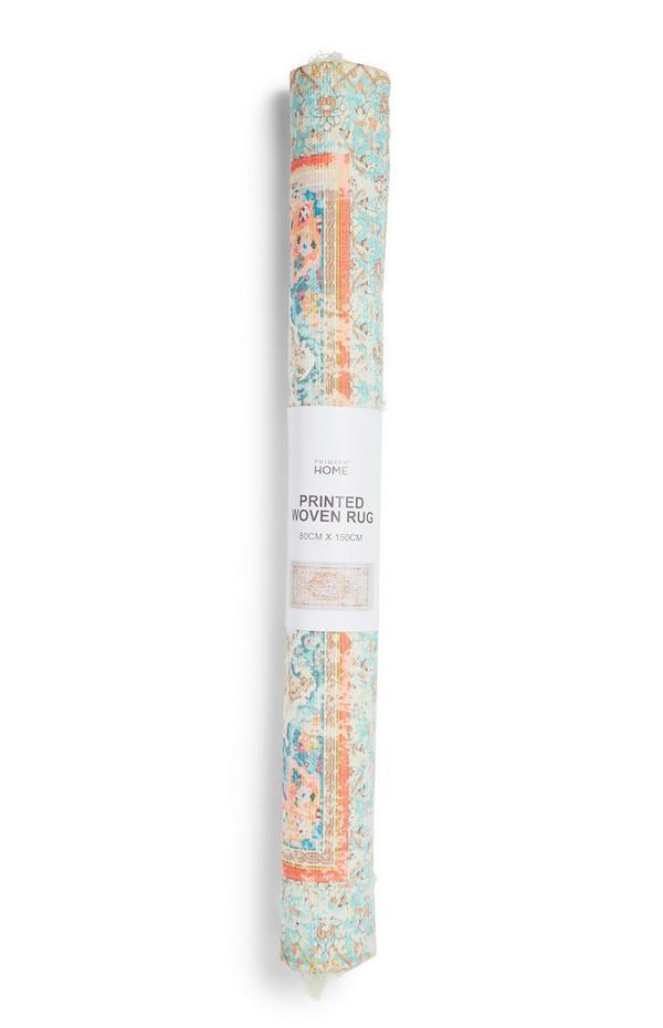Tapis délavé à motif tapisserie