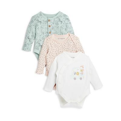 Newborn Baby Babyworld Bodysuits 3 Pack