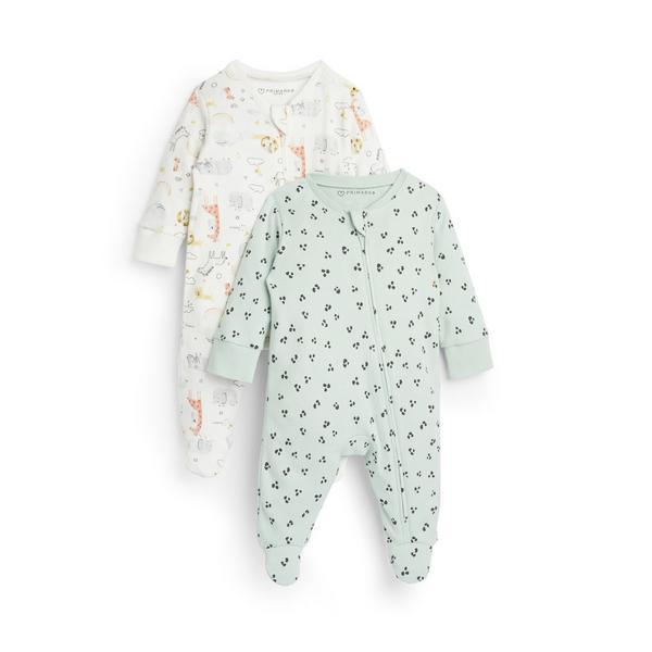 Newborn Baby Babyworld Sleepsuits 2 Pack