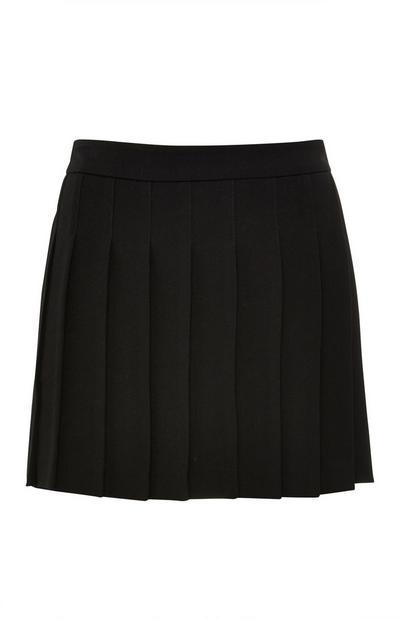 Black Pleated Tennis Skirt