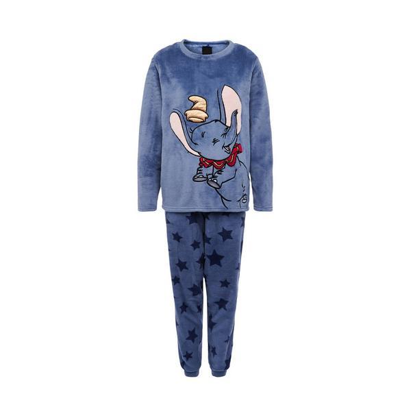 Mornarsko modra pižama iz tkanine sherpa Disney Dumbo