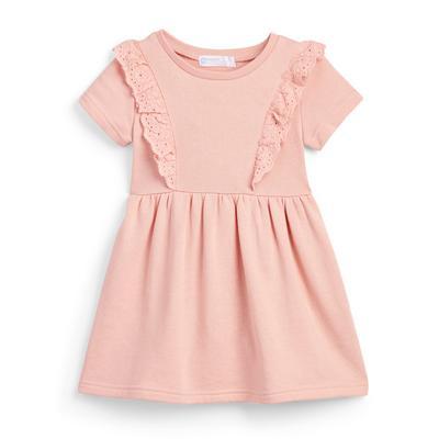 Roze jersey T-shirtjurk voor meisjes