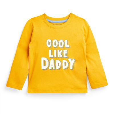 Baby Boy Yellow Slogan Longsleeve T-Shirt