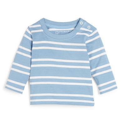 Baby Boy Blue Stripe Longsleeve T-Shirt