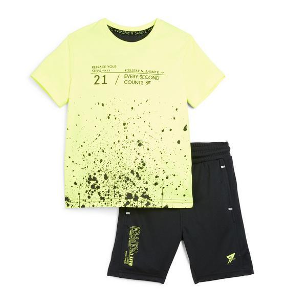 Younger Boy Neon Paint Splat Active Set