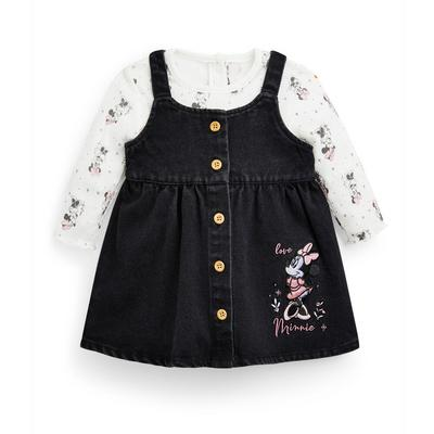 Baby Girl Disney Minnie Mouse Pinafore 2 Piece Set