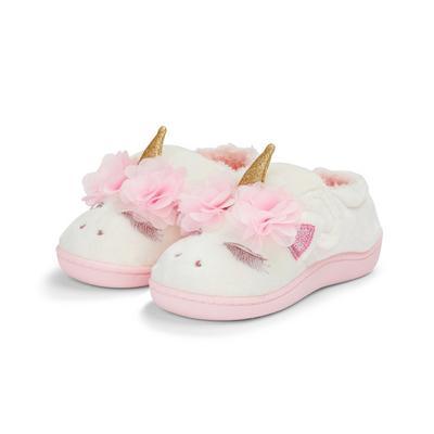 Roze eenhoornpantoffels voor meisjes