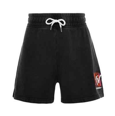 Pantalón corto negro con cordón de ajuste de MTV