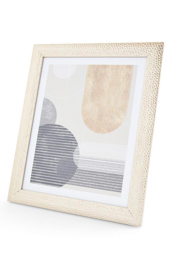 Goudkleurig fotolijstje met deukjes, 20 x 25 cm