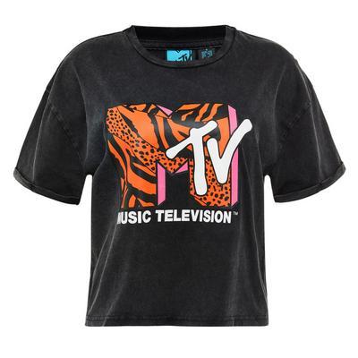 Black MTV Logo T-Shirt