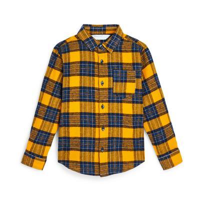 Geel geruit flanellen overhemd voor jongens