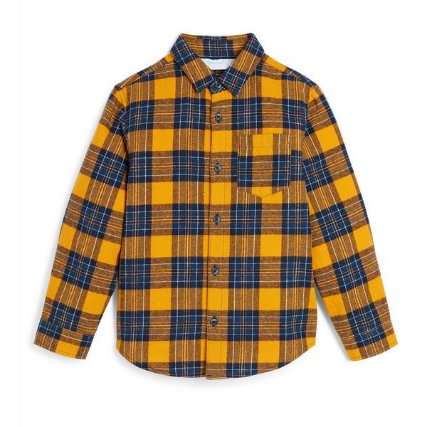 Baby Boy Mustard Check Shirt