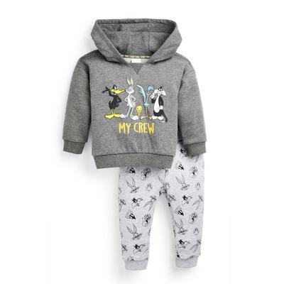 Baby Girl Grey Looney Tunes Hoodie Set 2 Piece