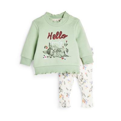 Baby Girl Green Bambi Leisure Set